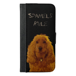 iPhone 6/6s Plus Wallet Case with Cocker Spaniel Phone Cases design