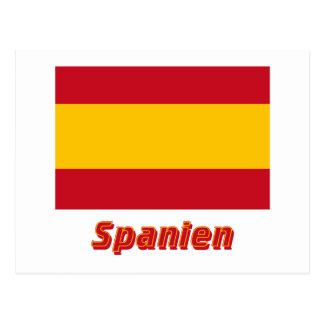 Spanien bürgerliche Flagge mit Namen Postcard