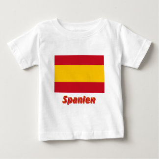 Spanien bürgerliche Flagge mit Namen T-shirts