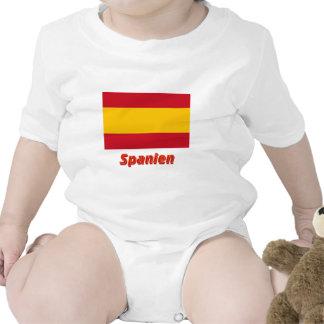 Spanien bürgerliche Flagge mit Namen Bodysuit