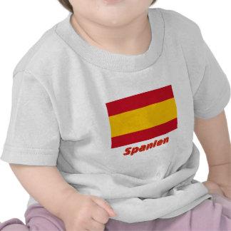 Spanien bürgerliche Flagge mit Namen T-shirt