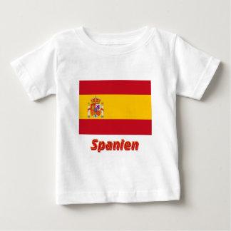 Spanien Dienstflagge mit Namen T-shirt