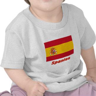 Spanien Dienstflagge mit Namen Shirts
