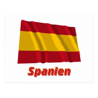 Spanien fliegende bürgerliche Flagge mit Namen Postcard