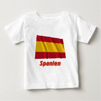 Spanien fliegende bürgerliche Flagge mit Namen Tshirt