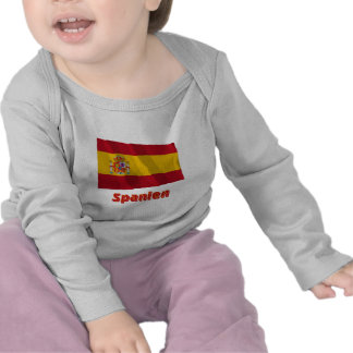 Spanien Fliegende Dienstflagge mit Namen Shirt