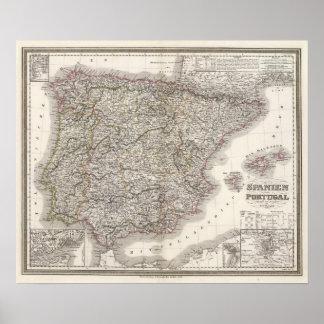 Spanien, Portugal Poster