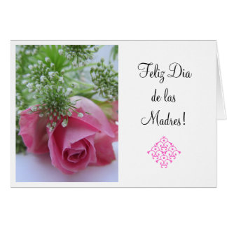 Spanish:3 Dia de la Madre /Mother's day Greeting Card