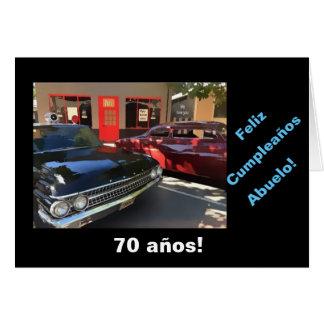 Spanish: 70th cumpleaños del abuelo card