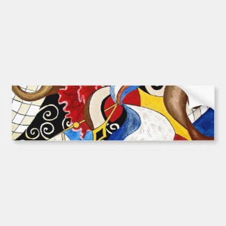 Spanish abstract art painting car bumper sticker