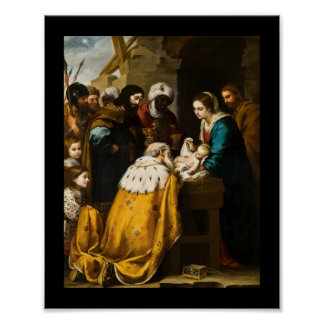 Spanish Adoration of the Magi Poster