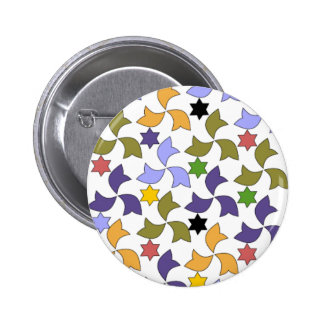 Spanish Alhambra style Tile Mosaic Pattern 2 Inch Round Button