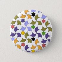 Spanish Alhambra style Tile Mosaic Pattern Pinback Button