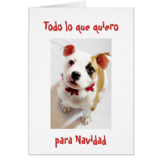 Spanish All I want for Christmas is you Cards