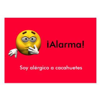 Spanish Allergy Info card - Peanut