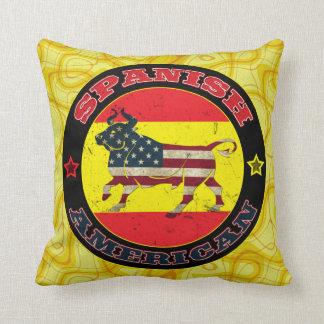 Spanish American Bull Cushion Throw Pillow