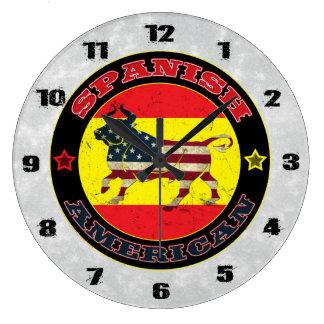 Spanish American Bull Large Clock
