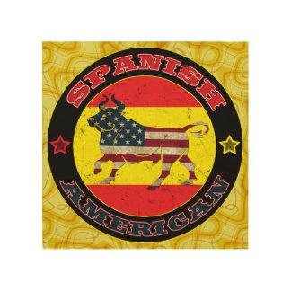 Spanish American Bull Wood Print