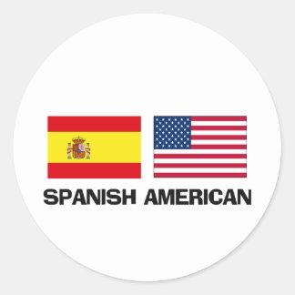 Spanish language stickers zazzle for American classic logo