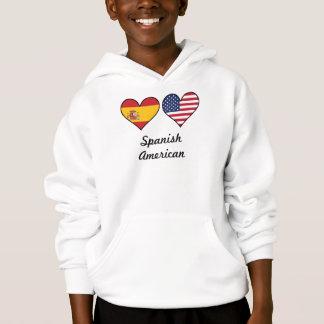 Spanish American Flag Hearts Hoodie