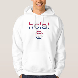 Spanish American Gifts  Hello / Hola + Smiley Face Hoodie