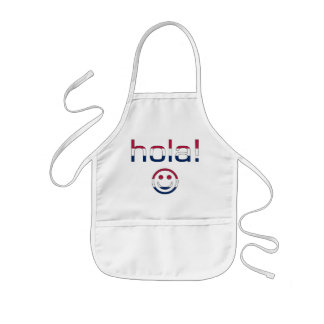 Spanish American Gifts  Hello / Hola + Smiley Face Kids' Apron