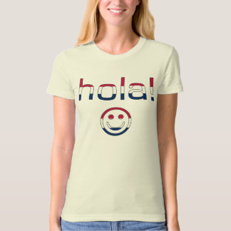 Spanish American Gifts  Hello / Hola + Smiley Face Tee Shirts