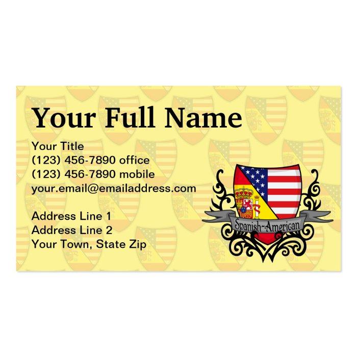 Spanish American Shield Flag Business Card