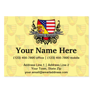 Spanish-American Shield Flag Business Card Templates