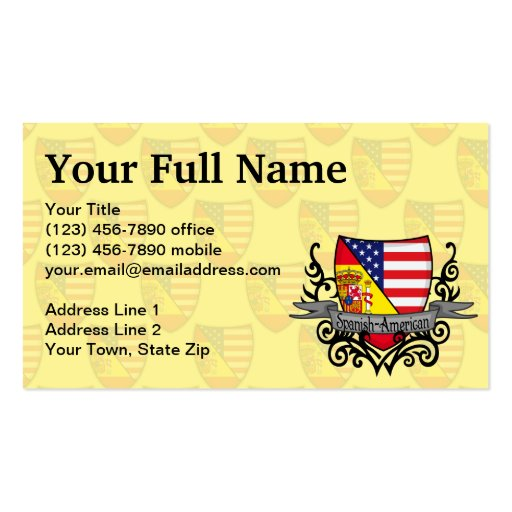 Spanish American Shield Flag Business Cards