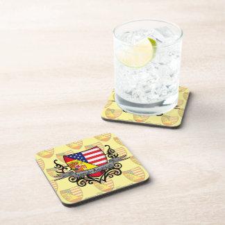Spanish-American Shield Flag Coasters