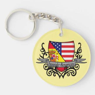 Spanish-American Shield Flag Keychain