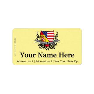 Spanish-American Shield Flag Address Label