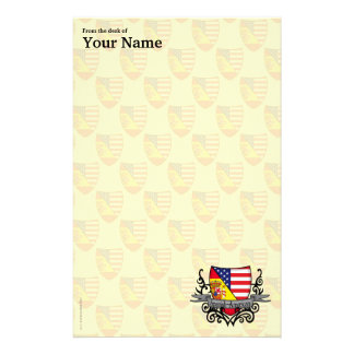 Spanish-American Shield Flag Stationery
