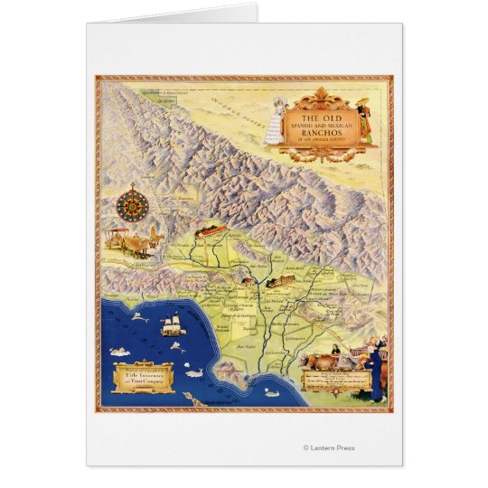 Spanish and Mexican Ranchos of Los Angeles Map Card