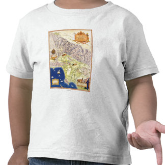 Spanish and Mexican Ranchos of Los Angeles Map T-shirts