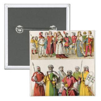 Spanish and Moorish Dress Pinback Button