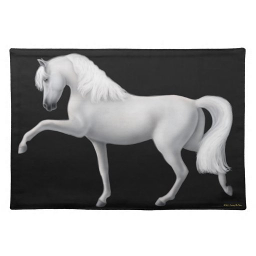 Spanish Andalusian Horse Placemat Cloth Place Mat