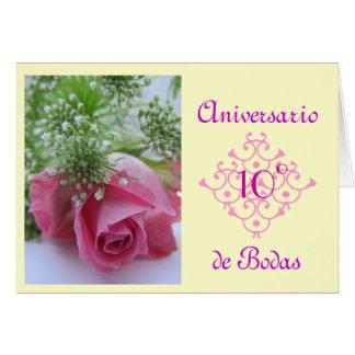 Spanish: aniversario de Bodas (wedding annivesary) Card