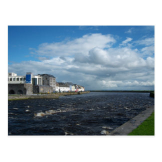 Spanish Arch and Long Walk, Galway. Postcard