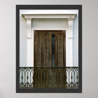 Spanish Architecture Windows Poster