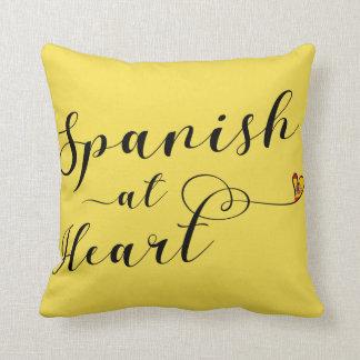 Spanish At Heart Throw Cushion, Spain Throw Pillow