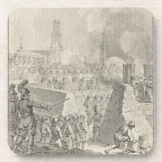 Spanish attack on Bommel 1599 Beverage Coaster