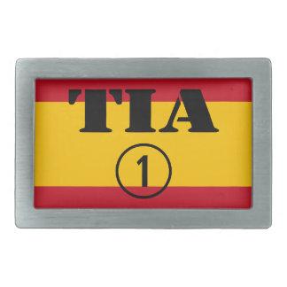 Spanish Aunts : Tia Numero Uno Rectangular Belt Buckle