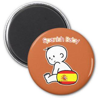 Spanish Baby 2 Inch Round Magnet