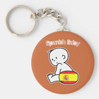 Spanish Baby Basic Round Button Keychain