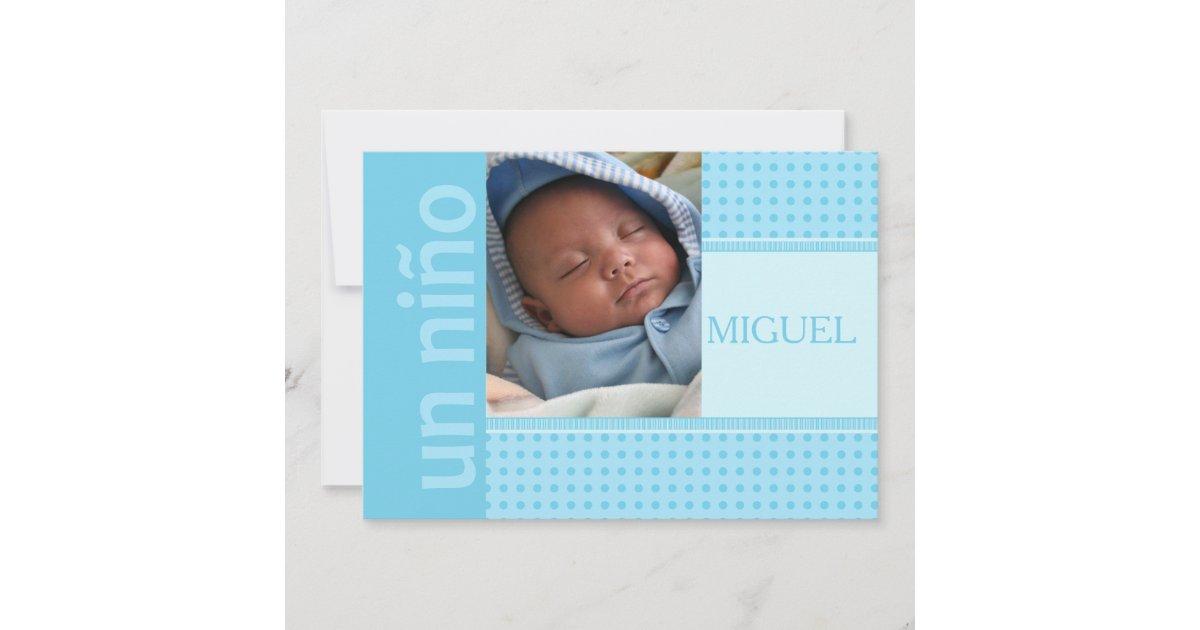 Spanish Baby Boy Birth Announcement Zazzle Com