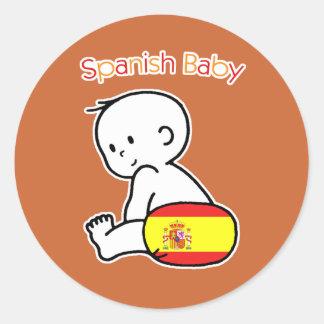 Spanish Baby Classic Round Sticker