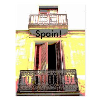 Spanish balcony postcard