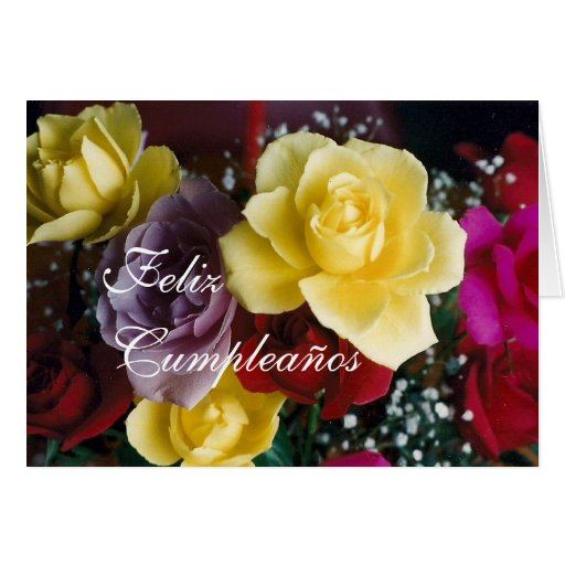 Spanish: Birthday bouquet /Cumpleaños Cards